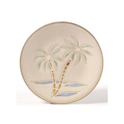 Palm by Pfaltzgraff Dinner Plate All Cream Palm Tree Center Beaded Edge L109