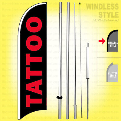 Tattoo - Windless Swooper Flag Kit 15 Tall Feather Banner Sign Kb-h