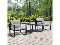 Luana 2 Seater Rattan Conversation Set - Less than 1yr old and still in good condition