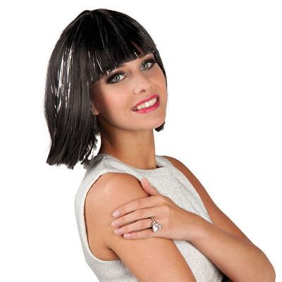 Perücke Gigi Glamour, schwarz, mit Strähnen