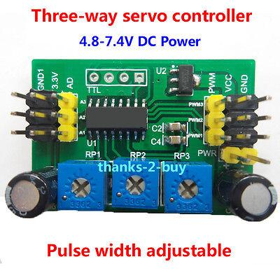 Dc 4.8-7.4v 5v 3-way Servo Motor Controller Steering Gear Control Driver Tester
