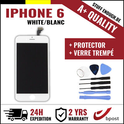 A+ LCD TOUCH SCREEN DISPLAY SCHERM ÉCRAN WHITE BLANC +VERRE TREMPÉ FOR IPHONE 6
