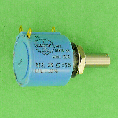 Precision Potentiometer 2k Ohm 5 10 Turn Enhanced Stop Strength Panel Mount New