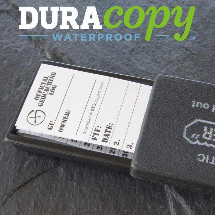 20 x *NEW* GEOLoggers SMALL 3.0cm Geocaching Log Sheet DURACopy WATERPROOF RITR!