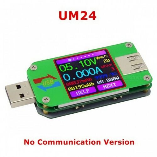 Rui Deng UM24 USB2.0 Color Voltage Ammeter Power Battery Capacity tester