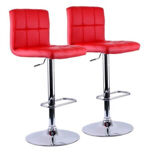 2 Red Barstools
