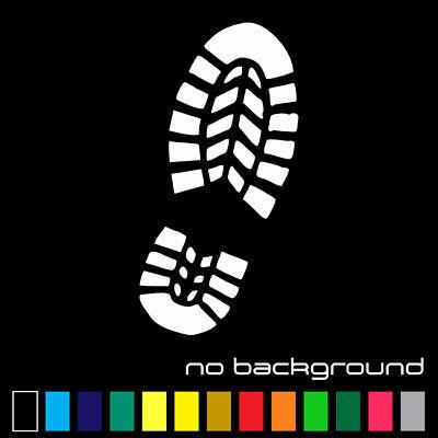 Boot Print Sticker Vinyl Decal - Foot Shoe Kick Footprint Funny Car Bumper - Footprint Stickers