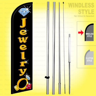 Jewelry - Windless Swooper Flag Kit 15 Feather Banner Sign Kf-h