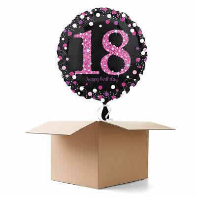 e Pink 18th, 1 Ballon Ballongeschenk Geburtstag Partydeko (Sparkle Geburtstag)