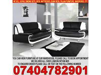 BRAND NEW 3 AND 2 SEATER SOFA SUITE IN QUALITY ITALIAN PU LEATHER