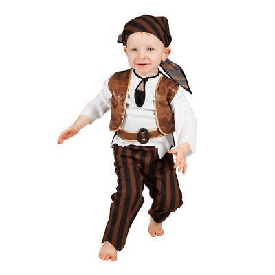NEU Kinder-Kostüm Piraten Baby Babykostüm Piratenkostüm Kleinkindkostüm   - Kostüm Pirat Baby