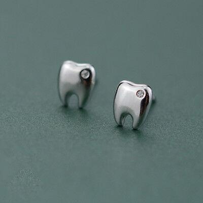 10 Pairs Teeth Earrings Dental Dentist Assistant Girls Jewelry 925 Silver Gift