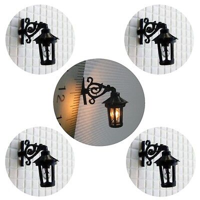 S271 - Set 5 Stück Straßenlampen Wandlampen 1-flammig 1,5cm