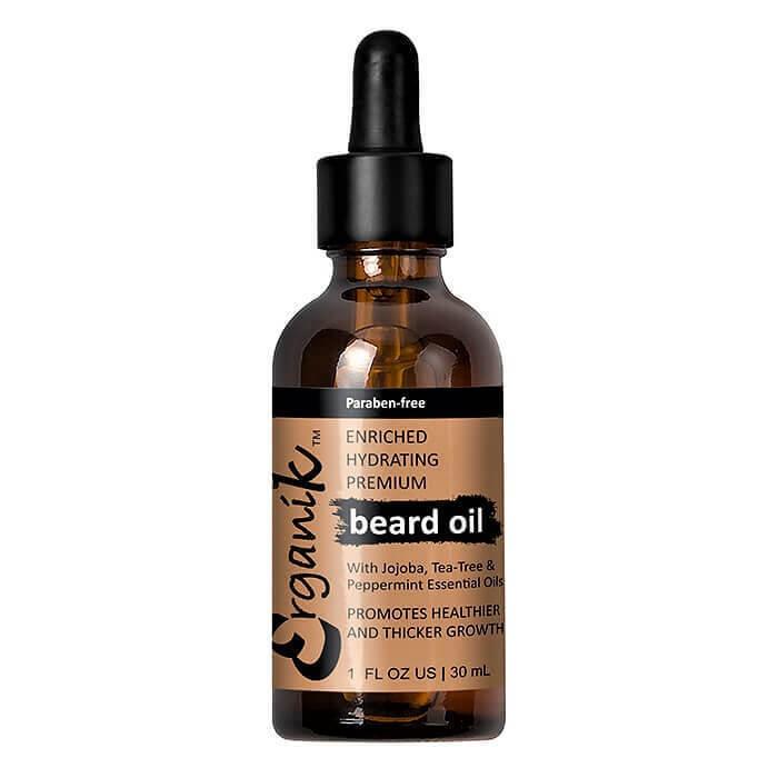 Erganik beard oil with Jojoba, Hemp Seed, Peppermint, Orange