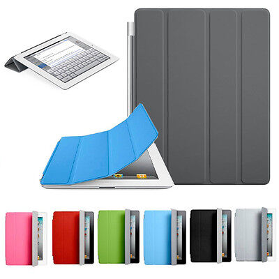 for Apple iPad 2 3 4 BEST Ultra Thin Magnetic Leather Smart Cover Folio Case (Best Leather Ipad 3 Case)