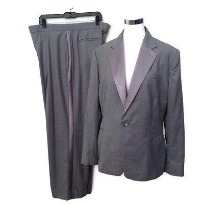 Ralph Lauren Purple Label Jacket Pant Suit 14 Gray Wool Silk Women's NWT $1,495