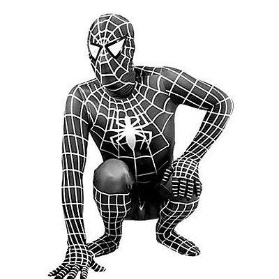 SPIDERMAN VENOM ADULT FANCY DRESS COSTUME SKIN TIGHT LYCRA SPANDEX SUIT COSPLAY