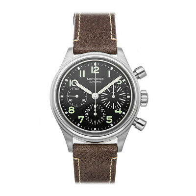 Longines Heritage Avigation Bigeye Chrono Auto Steel Mens Watch L2.816.4.53.2