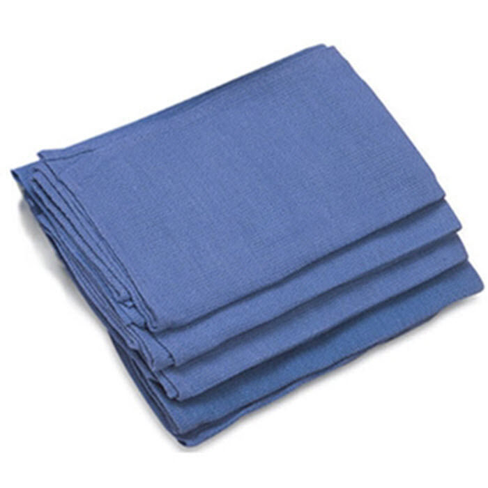 50 Pieces-NEW BLUE GLASS CLEANING SHOP TOWELS/HUCK/ SURGICAL