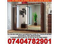 BRAND NEW German 2 Door Sliding Mirror Wardrob with Extra Shelves, 2 Hanging Rails