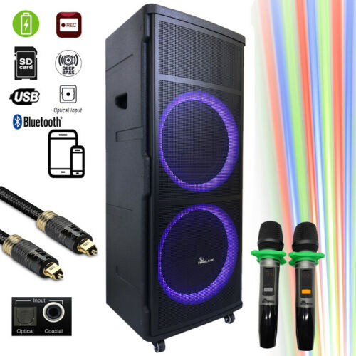 DJ06 Bluetooth Rechargeable Party Speaker With Optical - Loa Kéo Di Động