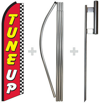 Tune Up 15 Tall Swooper Flag Pole Kit Feather Super Bow Banner