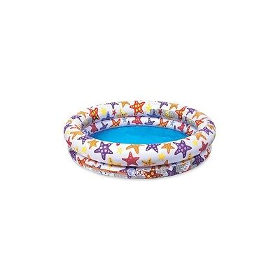 "Intex Inflatable Stars Kiddie 2 Ring Circles Swimming Pool 48"" X 10"", 59421E New"