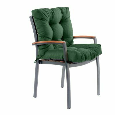 Gardenista Dining Chair Cushion Only Double Green Water Resistant  L100x45x7cm