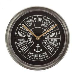 Ship Throttle Metal Wall Clock Vintage Inspired Nautical Ship Home/Cabin Decor