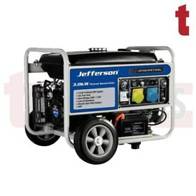 JEFFERSON 3.0KW 7HP PETROL GENERATOR ELECTRIC KEY START ANTI VOLTAGE REGULATOR