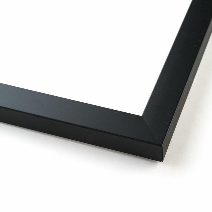 8x12 - 8 x 12 Flat Black Solid Wood Frame with UV Framer