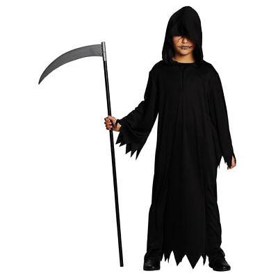 Kinder-Kostüm schwarzes Gewand Halloween Henker Spuk Halloweenkostüm