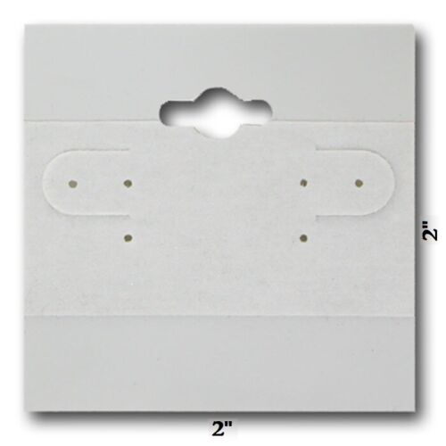 100pc Earring Display Cards Grey Earring Cards Jewelry Cards Hanging 2x2 Cards