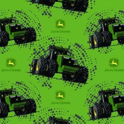 John Deere Tractors-Big Time Tractor-Green B/G With Black Dots-BTY-Boy-Man-Play (John Deere Drapes)