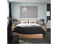 MALM, superking bed 180x200cm, White stained oak, WAS £279, IKEA Warrington, #bargaincorner