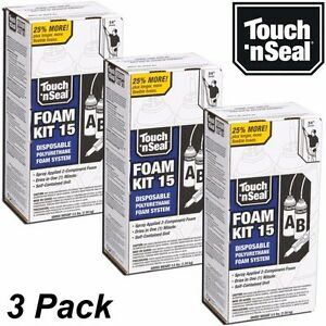 Diy spray foam insulation ebay touch n seal diy spray foam insulation kit 15 bf closed cell qty 3 solutioingenieria Image collections