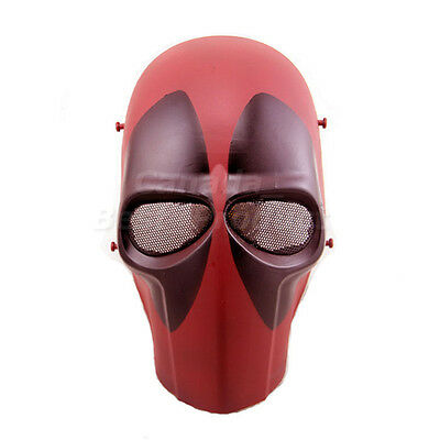 New Tactical Airsoft Paintball Cosplay Outdoor Full Face Protective Mask Red (Cosplay Ebay)