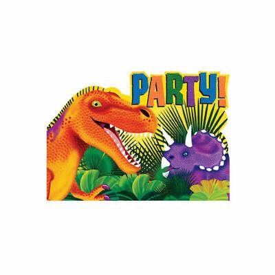 Einladungskarten Dinosaurier Party, 8 Stk. Kinder Geburtstag Fest Party