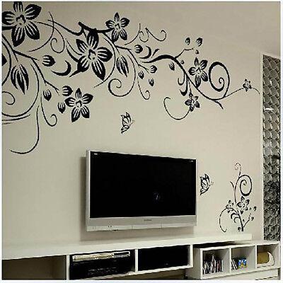 - Butterfly Flower Rattan Vinyl Art Wall Sticker Decal Mural Christmas Home Decor