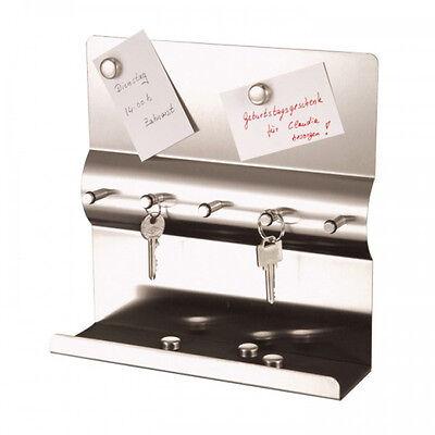 Schlüsselbrett Schlüsselboard Edelstahl + Magnet Schlüsselleiste Schlüsselkasten