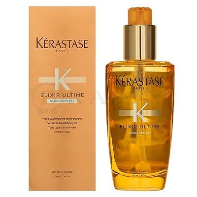 KERASTASE ELIXIR ULTIME VERSATILE BEAUTIFYING OIL 3.4oz/100ml NEW IN BOX! FRESH!