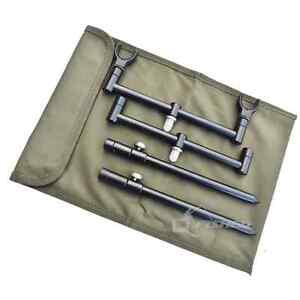 Black Buzz Bar 2 Rod Stainless Steel Rod Rests Banksticks Rod Pod Carp Fishing