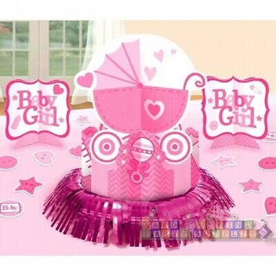 Baby Girl Supplies (BABY SHOWER Baby Girl TABLE DECORATING KIT (23pc) ~ Party Supplies)
