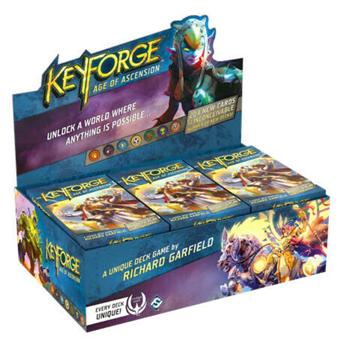 Keyforge Age Of Ascension Deck Display (12 ct.) In-Stock Ships Today!