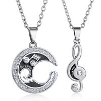 Coppia Collana Note Musicale I Love You Chain Stainless Couple Music Amore Elvis -  - ebay.it