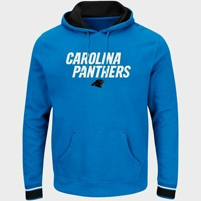 Carolina Panthers Championship Pullover Hoodie Blue Plus Sizes Embroidered NFL (Nfl Panthers Hoodie)