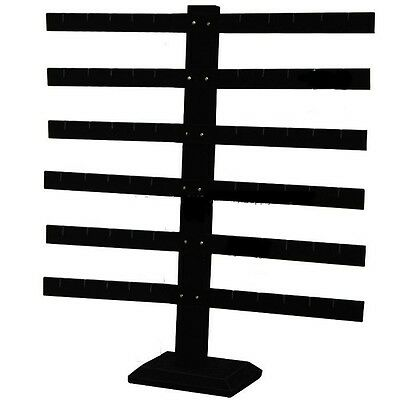 6 Tier 6 Bar Black Earring Display Stand 14 18 Wide X 15 18 Tall