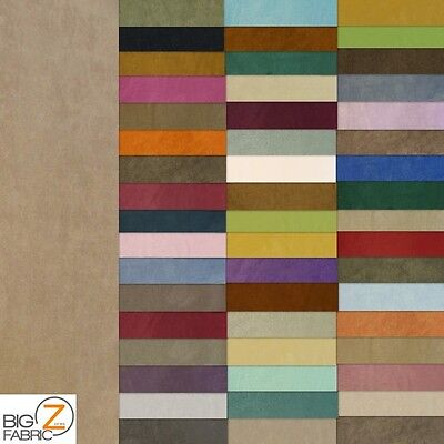 MICROFIBER PASSION SUEDE UPHOLSTERY FABRIC -52 Colors-14oz- 58