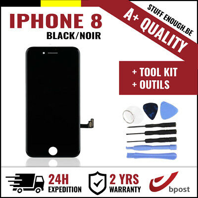 A+ LCD TOUCH SCREEN VITRE DISPLAY/SCHERM/ÉCRAN BLACK NOIR & TOOLS FOR IPHONE 8