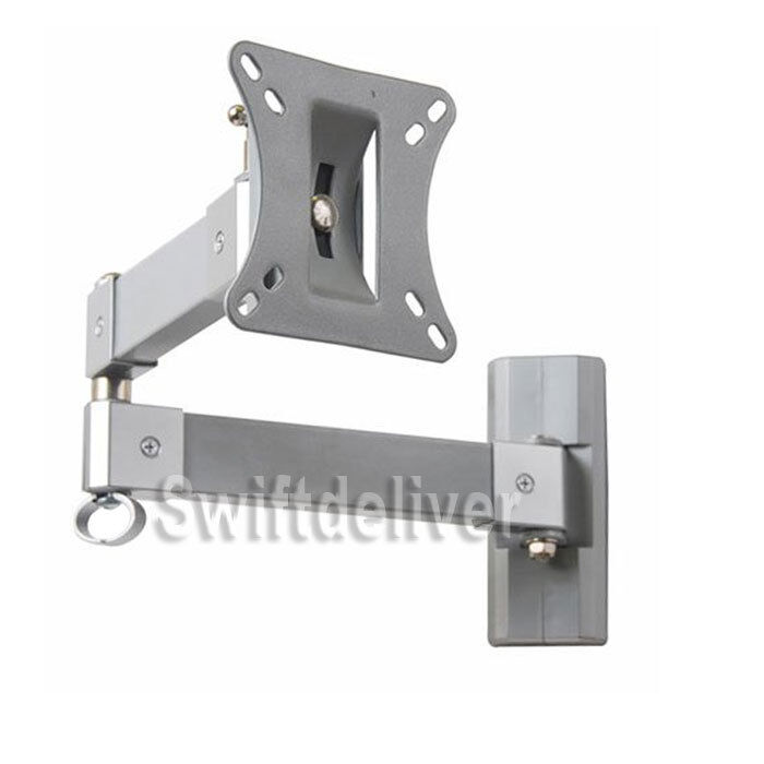 "Tilting Swivel Arm LCD LED TV Monitor Wall Mount 15 17 19 20 22 23 24 26 27"" CxC"